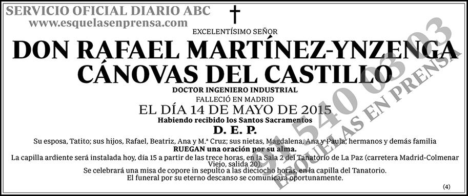 Rafael Martínez-Ynzenga Cánovas del Castillo